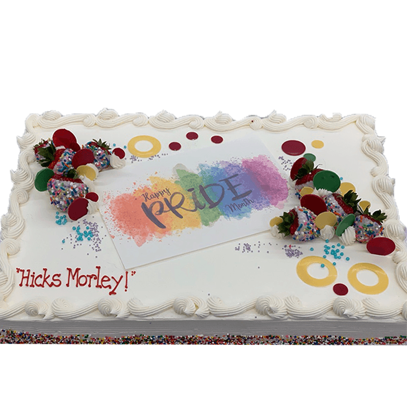 Sensational Fresh Cream Fresh Fruit Pride Cake Premium Cake Store Ecake Ca Personalised Birthday Cards Veneteletsinfo