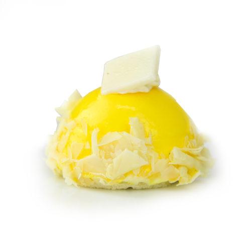 Lemon White Chocolate Mousse Bombe Individual
